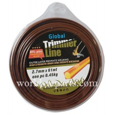 Леска для триммера Global 2.7 мм-61 м kvadrat